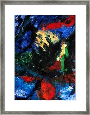 The Screaming Gulf Framed Print by Fareeha Khawaja