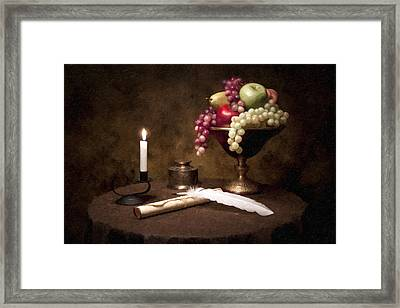 The Scribe Framed Print by Tom Mc Nemar