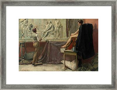 The Sculptor's Studio Framed Print by Tom Roberts