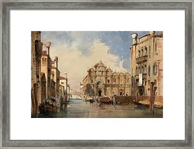 The Scuola Di San Marco - Venice Framed Print by Jules-romain Joyant
