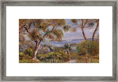 The Sea At Cagnes Framed Print by Pierre Auguste Renoir