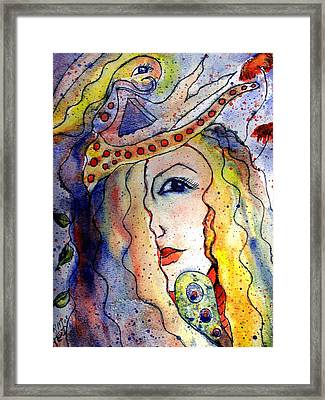 The Sea Becomes Her Framed Print by Robin Monroe