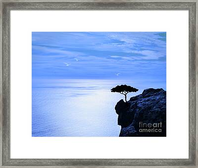 The Sea Below Framed Print by KaFra Art