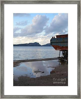 The Sea Between The Clouds Framed Print by Clay Cofer