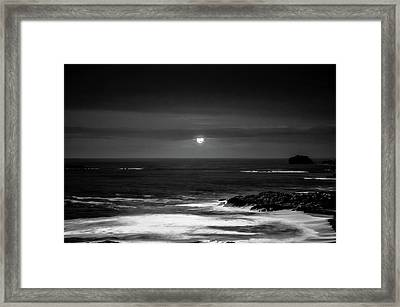 The Sea By Night Framed Print