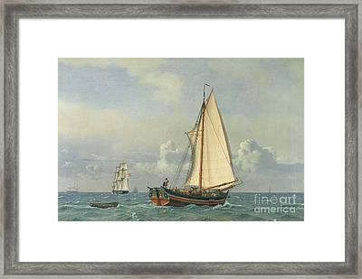 The Sea Framed Print by Christoffer Wilhelm Eckersberg