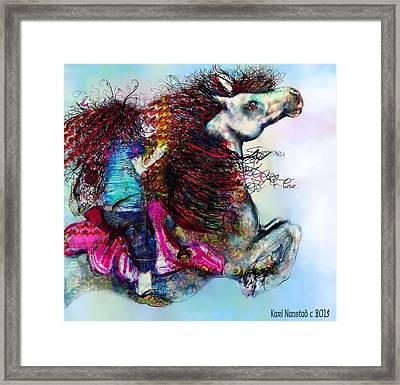 The Sea Horse Fairy Framed Print
