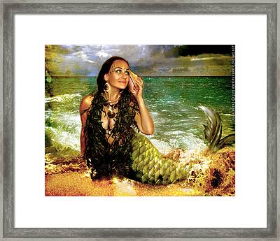 Framed Print featuring the photograph The Sea Is Calling  by Nada Meeks