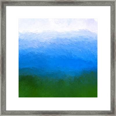 The Sea Is Deep Framed Print