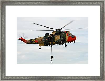 The Sea King Helicopter Of The Belgian Framed Print