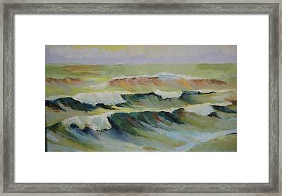 The Sea Framed Print by Mabel Moyano