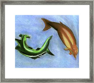 The Sea Of Life Framed Print by Mary and Art with a Heart In Healthcare