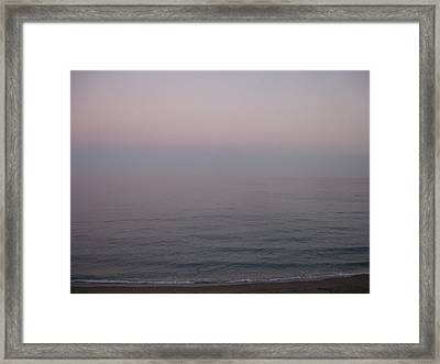 The Sea Oh The Sea Framed Print by Roger Cummiskey