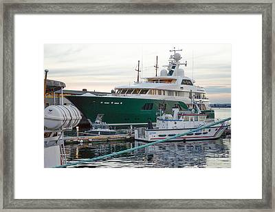 The Sea Owl, Mega Yacht Framed Print