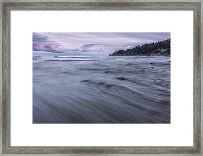 The Sea Rushes In Framed Print by Jon Glaser