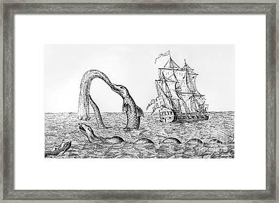 The Sea Serpent Framed Print by English School