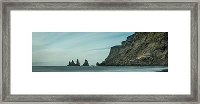 The Sea Stacks Of Vik, Iceland Framed Print