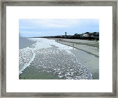 Framed Print featuring the photograph The Seacoast by Skyler Tipton