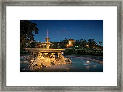The Seahorse Fountain Framed Print