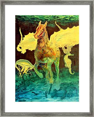 Framed Print featuring the painting The Seahorse by Henryk Gorecki