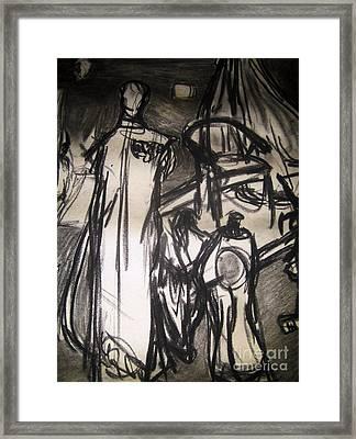 The Seamstress Framed Print