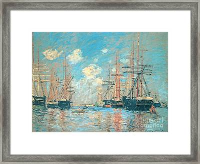 The Seaport Amsterdam Framed Print by Monet
