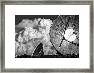 The Searchers 1. A Dramatic Fine Art Photographic Print Of The Radio Telescopes At Goonhilly Downs Framed Print