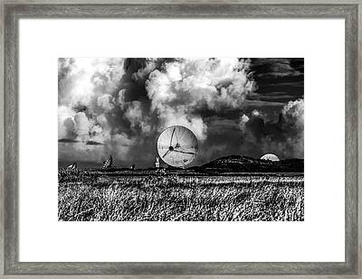The Searchers 2. A Dramatic Fine Art Photographic Print Of The Radio Telescopes At Goonhilly Downs  Framed Print