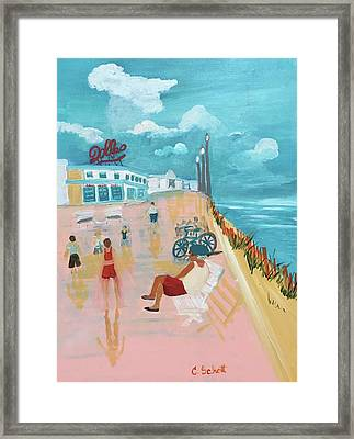 The Seaside Man Framed Print
