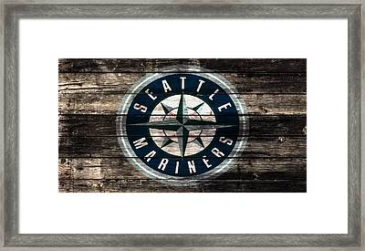 The Seattle Mariners 3a Framed Print by Brian Reaves
