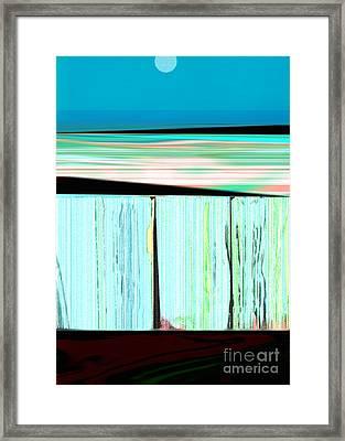 The Seawalls No. 1 Sunrise Framed Print