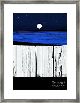 The Seawalls No.4 Full Moon Rising Framed Print