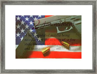 The Second Amendment Framed Print by Dan Sproul