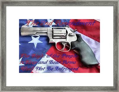 Framed Print featuring the digital art The Second Amendment by JC Findley