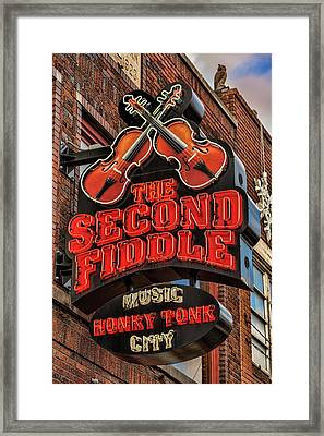 Framed Print featuring the photograph The Second Fiddle Nashville by Stephen Stookey