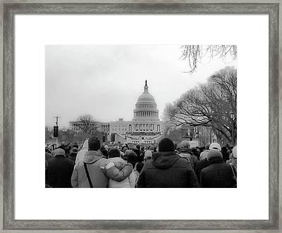 The Second Inauguration Of President Barack Obama Framed Print by Rick Grossman