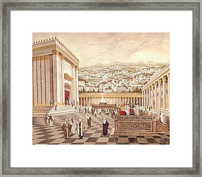 The Second Temple. Cohen Framed Print by Aryeh Weiss