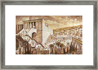 The Second Temple. Pilgrims Framed Print by Aryeh Weiss