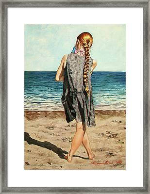 The Secret Beauty - La Belleza Secreta Framed Print