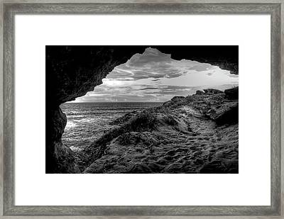 The Secret Cave Framed Print