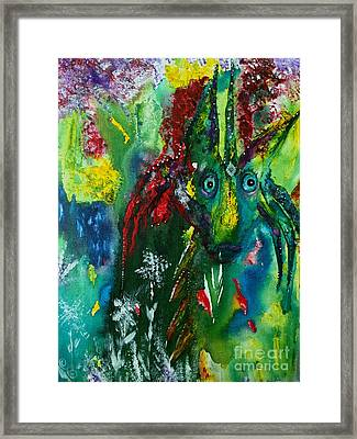 The Secret Dragon Framed Print by Julie Engelhardt