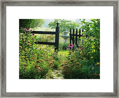 The Secret Garden Framed Print by Joyce Kimble Smith