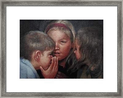 The Secret Framed Print by Janet McGrath