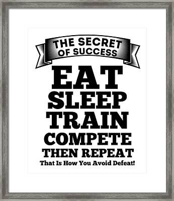 The Secret Of Success Framed Print