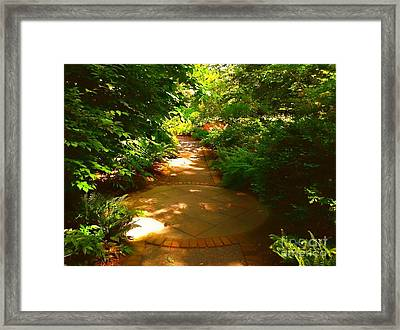 The Secret Path Framed Print by Becky Lupe