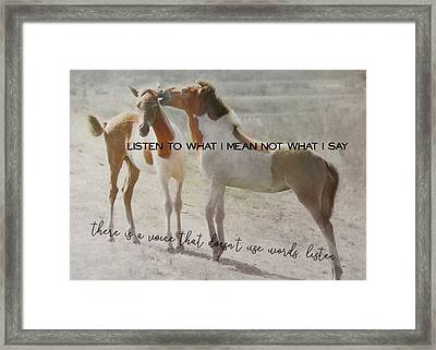 The Secret Quote Framed Print by JAMART Photography