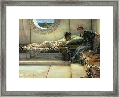 The Secret Framed Print by Sir Lawrence Alma-Tadema