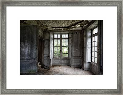 The Secret Stairs To Heaven - Abandoned Building Framed Print
