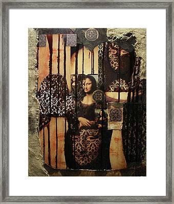 The Secrets Of Mona Lisa Framed Print by Michael Kulick