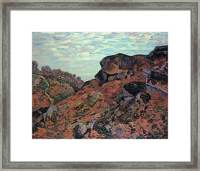 the Sedelle Heights Framed Print by Armand Guillaumin